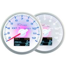 DEPO óra, műszer WBL 60mm - 4in1 Kipufogó hőmérséklet, Töltés, Olajnyomás, Olajhőmérséklet